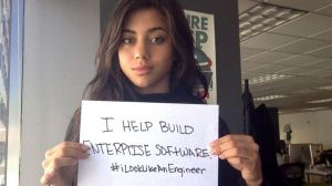 Isis Winger, an engineer in San Francisco, started the #ilooklikeanengineer Twitter campaign after getting negative responses to her appearance in another set of ads for her work.