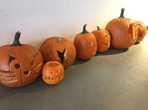 The ladies of SB made jack-o-lanterns!