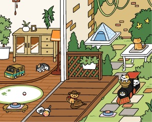 In completely unrelated news, I have finally collected all the cats from Neko Atsume! This game is silly, adorable and completely addictive.